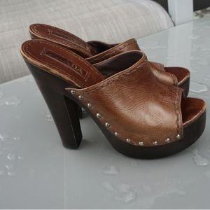 authentic PRADA brown sandals